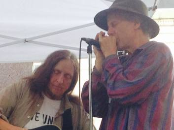 Annie Hassett at Greenfield Harvest Festival with Jonathan Mark on harmonica